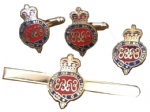 Grenadier Guards Regimental Cufflinks, Tie Bar, Lapel Badge Military Gift Set